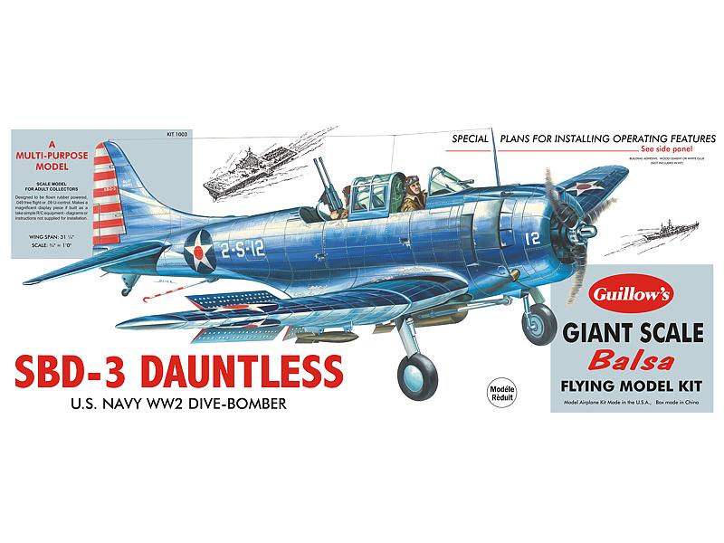 Douglas SBD-3 Dauntless - Paul K  Guillow, Inc
