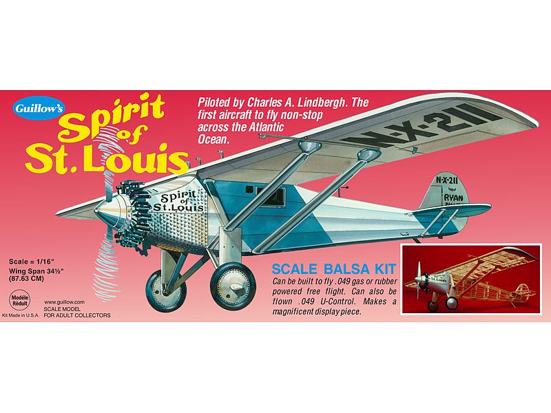 Spirit of St  Louis - Paul K  Guillow, Inc