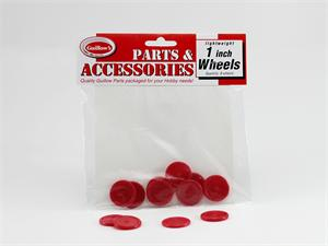 1 inch Red Plastic Wheels